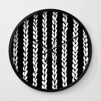 knit Wall Clocks featuring Knit 8 by Project M