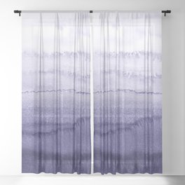 WITHIN THE TIDES ICELAND LUPINS by Monika Strigel Sheer Curtain