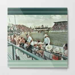 Rodeo Hitchin' Metal Print