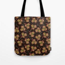 Dark hazelnuts pattern Tote Bag