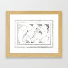 sphere segments Framed Art Print