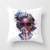 deadmau5 Throw Pillows featuring Queen Listen Music by Sitchko Igor