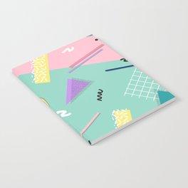 Dreaming 80s Pattern #society6 #decor #buyart Notebook
