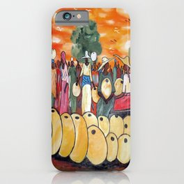 African Village Market Square iPhone Case