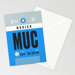 Luggage Tag A - MUC Munich Germany Stationery Cards