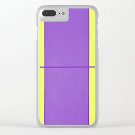 August - Purple and Yellow Clear iPhone Case