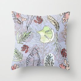 Sea vegetation Throw Pillow