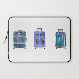 Let's Go Somewhere - Blue Laptop Sleeve