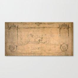 Map Of Havana 1762 Canvas Print
