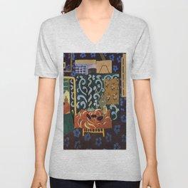 Henri Matisse Interior with Eggplants Unisex V-Neck