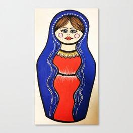 Virgin Mary Russian doll. Canvas Print
