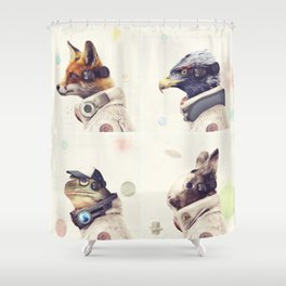 Star Team - Legends of Lylat Shower Curtain