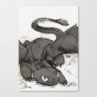 toothless Canvas Prints featuring Toothless by SpaceMonolith