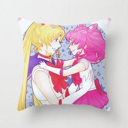 Sailor Moon - Usagi and Chibiusa Throw Pillow