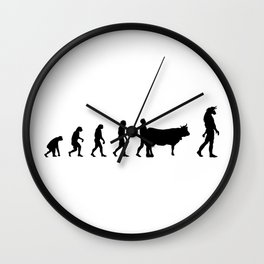 Mythologie and evolution Wall Clock