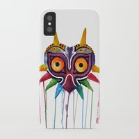 majoras mask iPhone & iPod Cases featuring majoras mask by Haily Melendez