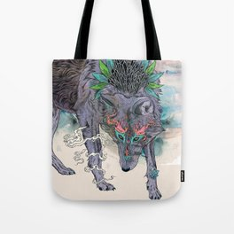 Journeying Spirit (wolf) Tote Bag