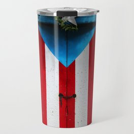 PUERTO RICO FLAG DOOR Travel Mug