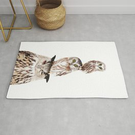 Stacked Owls Rug