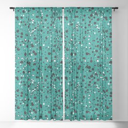 Speckled Emerald Sheer Curtain