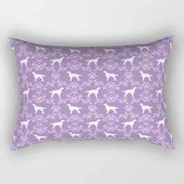 Irish Setter floral dog breed silhouette minimal pattern purple and white dogs silhouettes Rectangular Pillow