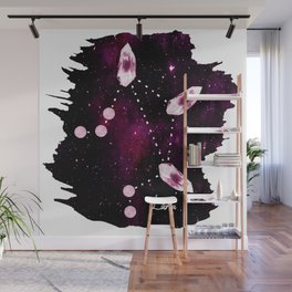 Libra Constellation in Pink Tourmaline - Star signs and birth stones Wall Mural