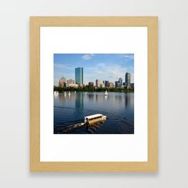 Rainbow Duck Boat On The Charles Boston MA Framed Art Print