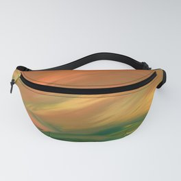 Sunset over the sea of worries Fanny Pack