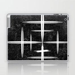 Black and White Hop Scotch Cris Cross Laptop & iPad Skin