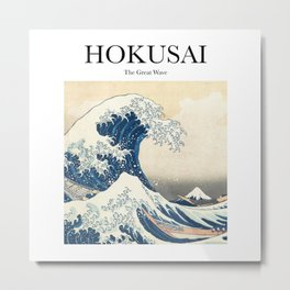 Hokusai - The Great Wave Metal Print