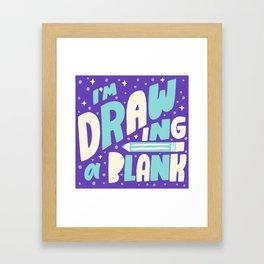 Drawing a Blank Framed Art Print