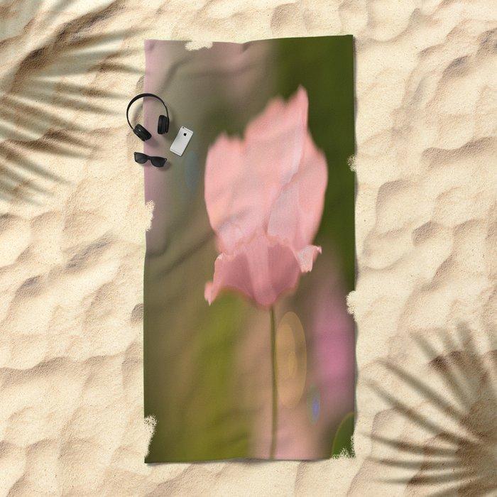 Dreamy Pink Poppy #decor #buyart #society6 Beach Towel
