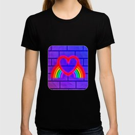 LGBT, Gay and Lesbian Quotes, Designs of Rainbows Flags and Hearts (21) T-shirt