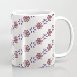 Folk flower stripes - seamless pattern Coffee Mug