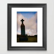 Cross on the Hill Framed Art Print