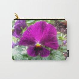 Violet Violas Carry-All Pouch