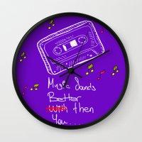 cassette Wall Clocks featuring Cassette by Melis Kalpakçıoğlu