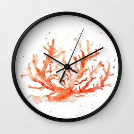 The Coral of Sciacca Wall Clock