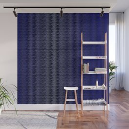 Binary Blue Wall Mural