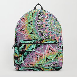 Black Pastel Mandala 012018 Backpack