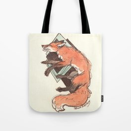 Endlessly Endure Red Fox Watercolor Drawing Tote Bag