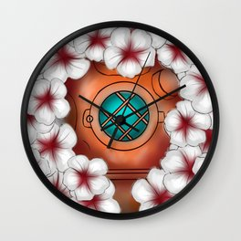 Floating in flowers Wall Clock
