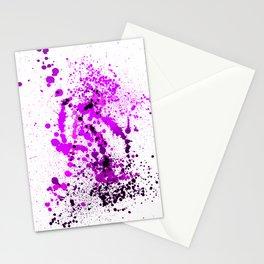 Vivid Violet - Splatter Style Stationery Cards