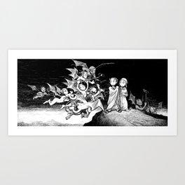 The Inferno: Selfiesticks (linework edition) Art Print
