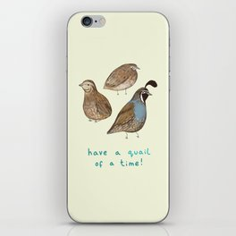 Quail of a Time iPhone Skin