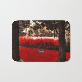 Red Velvet Bath Mat