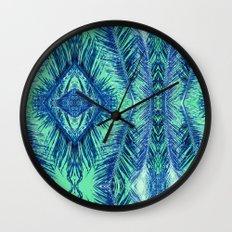 Tropical Palm Blue Wall Clock