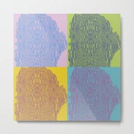 Pop Art Fingerprint Maze Abstract Metal Print