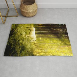 Alone in the Forest Rug
