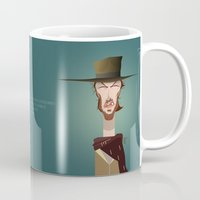 clint eastwood Mugs featuring Blondie (Clint Eastwood) FR by Bady Church